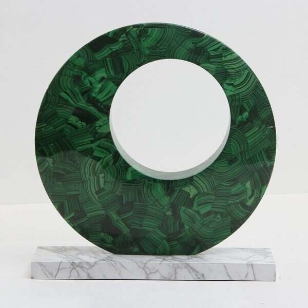 Contemporary Malachite Sculpture by Forwood Design 4