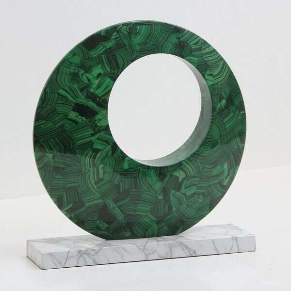 Contemporary Malachite Sculpture by Forwood Design 1