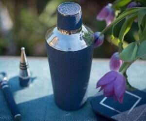 nile-blue-faux-shagreen-cocktail-shaker