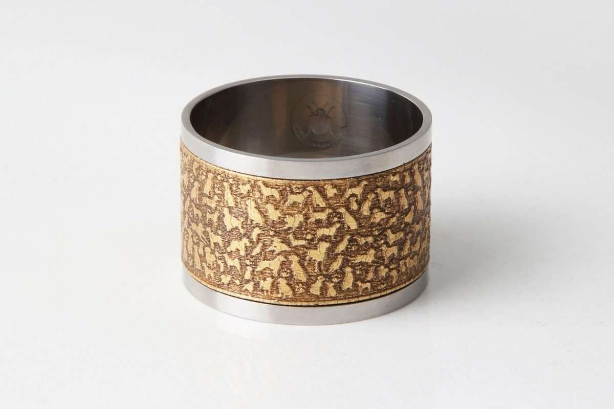 'Rover' Napkin Rings in Antique Gold by Forwood Design 4
