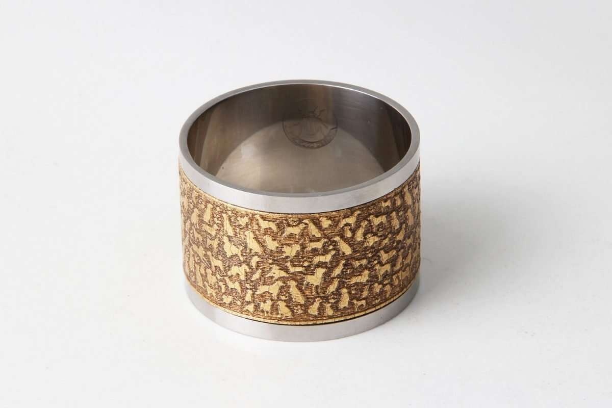 'Rover' Napkin Rings in Antique Gold by Forwood Design 3
