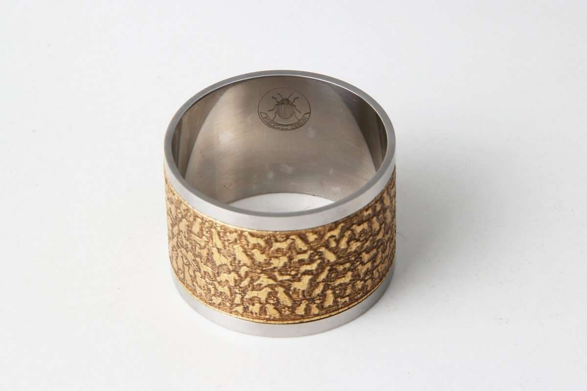 'Rover' Napkin Rings in Antique Gold by Forwood Design 2