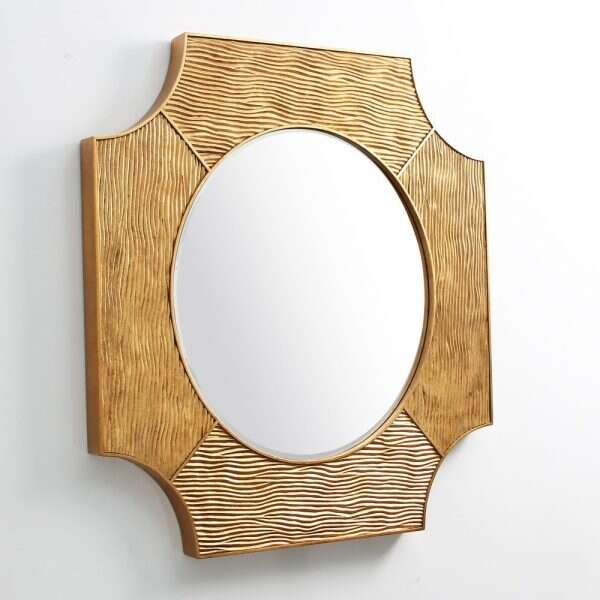 Lucas Wall Mirror in Antique Gold by Forwood Design 5