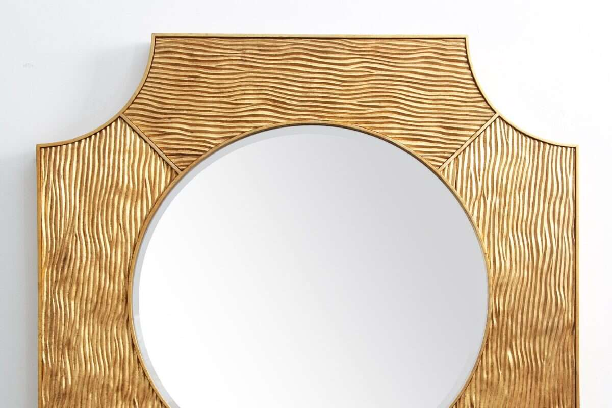 Lucas Wall Mirror in Antique Gold by Forwood Design 3