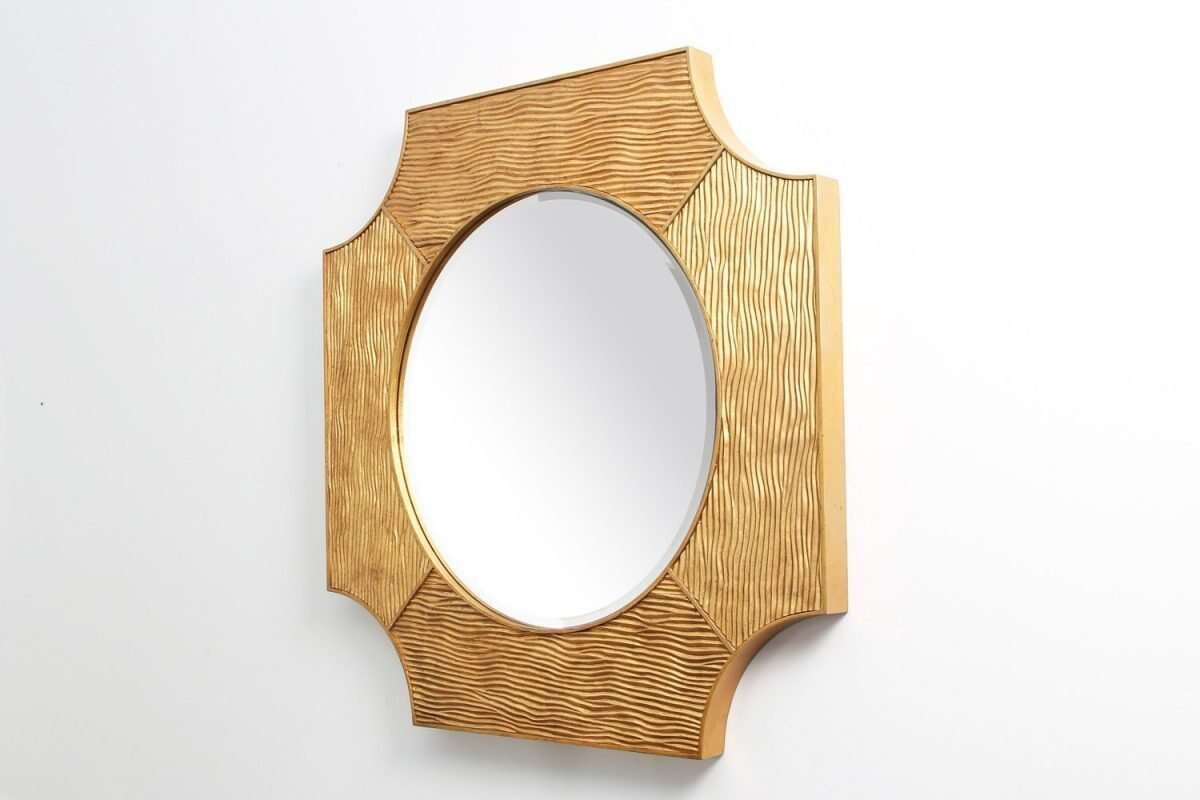 Lucas Wall Mirror in Antique Gold by Forwood Design 2