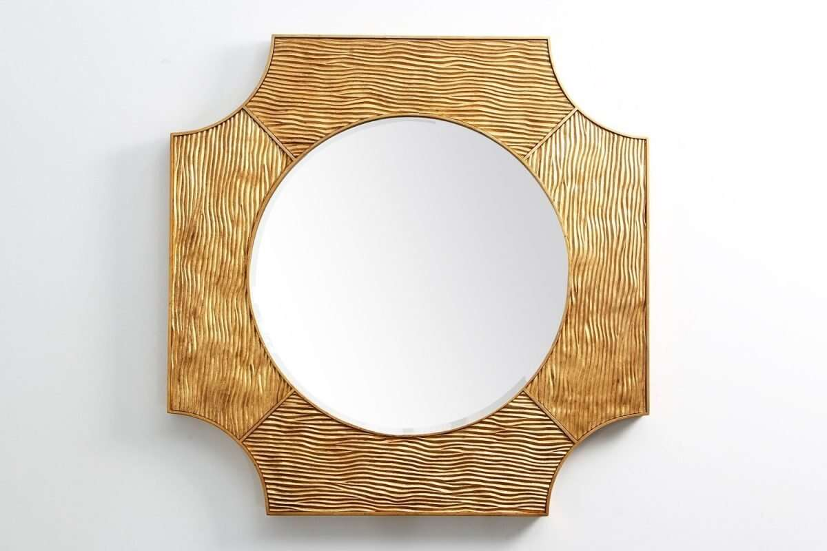 Lucas Wall Mirror in Antique Gold by Forwood Design 1