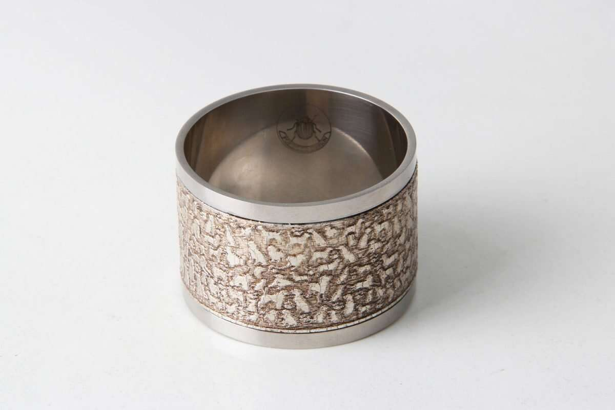 'Rover' Napkin Rings in Antique Silver by Forwood Design 2