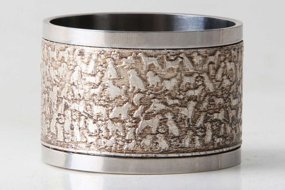 'Rover' Napkin Rings in Antique Silver by Forwood Design 3