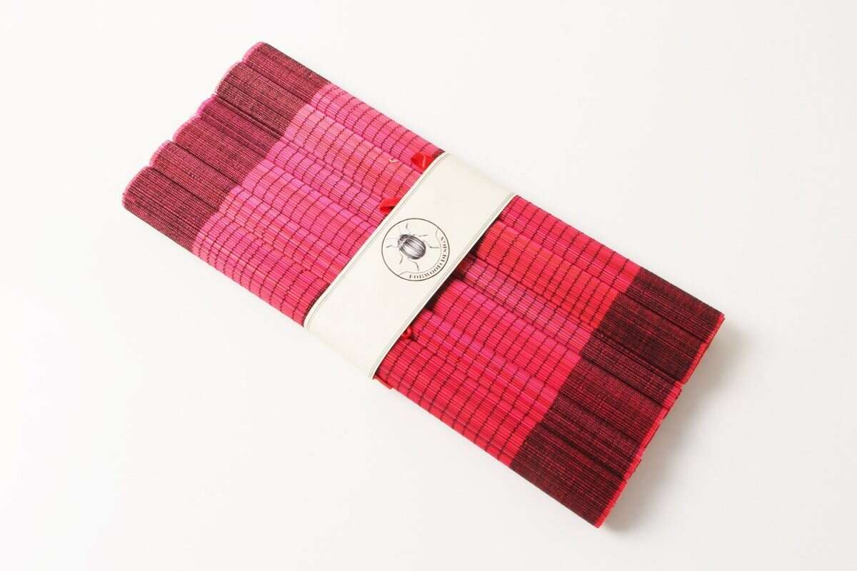 Crimson Red Bamboo Placemats 5