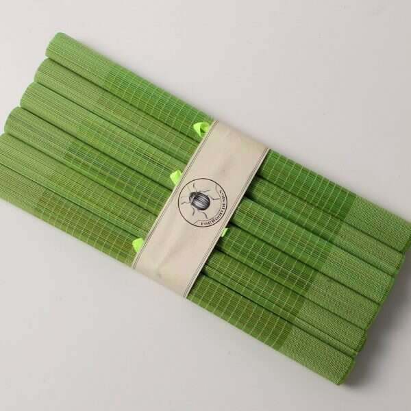 Bamboo Placemats in Lime Green 5