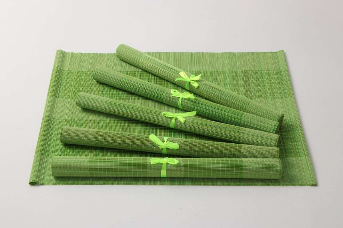 Bamboo Placemats in Lime Green 1
