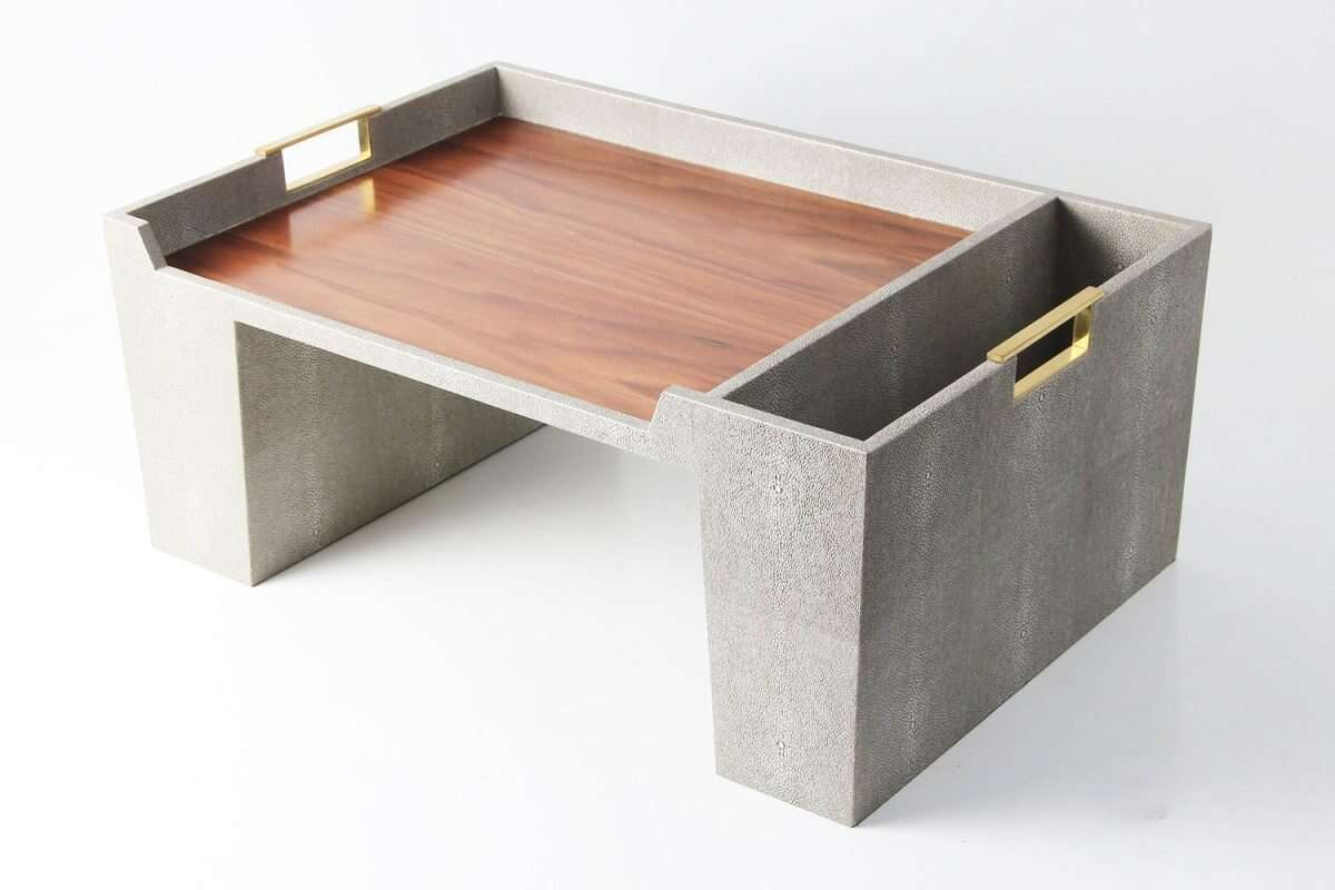 Bed Tray in Barley Shagreen by Forwood Design 4