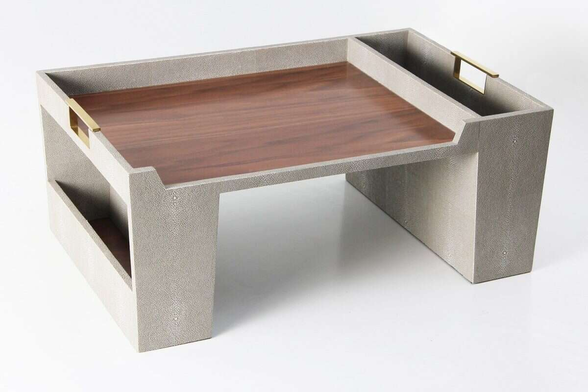 Bed Tray in Barley Shagreen by Forwood Design 3