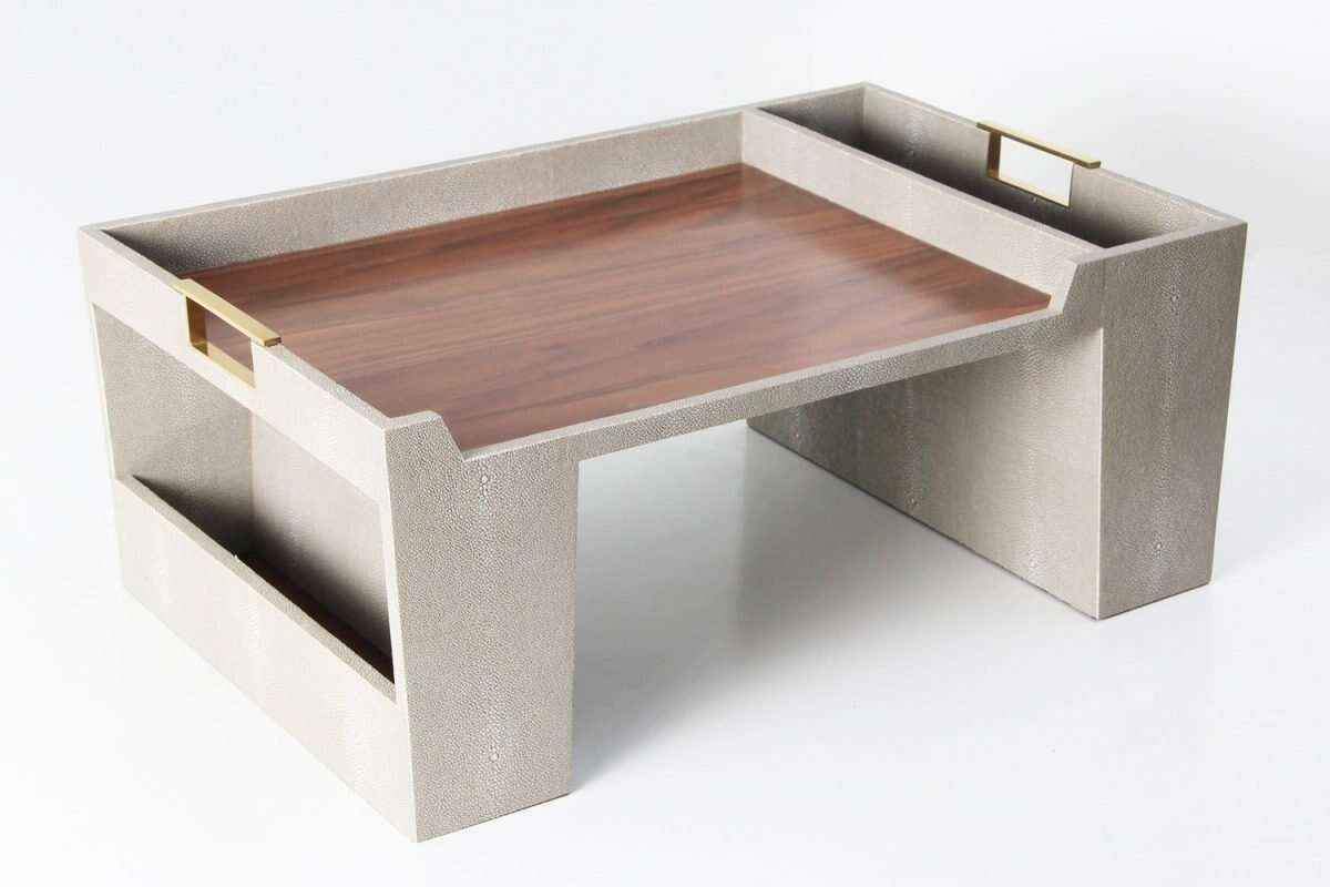 Bed Tray in Barley Shagreen by Forwood Design 2