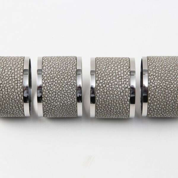 Napkin rings in Barley Shagreen by Forwood Design 3