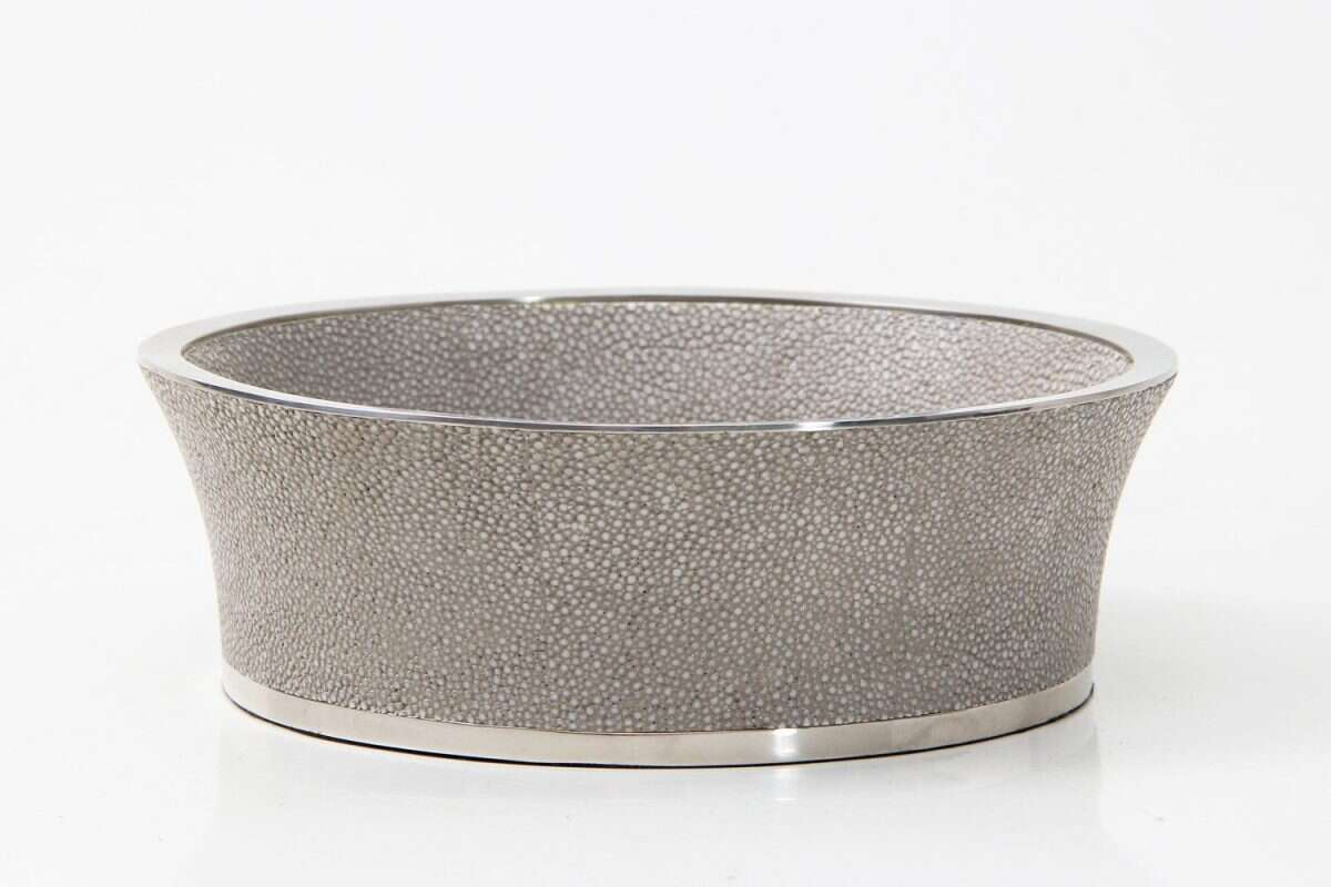 Wine Coaster in Barley Shagreen by Forwood Design 4