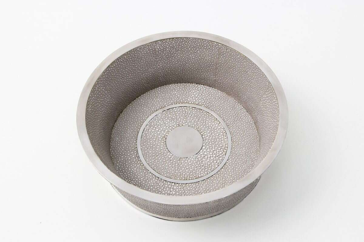 Wine Coaster in Barley Shagreen by Forwood Design 1