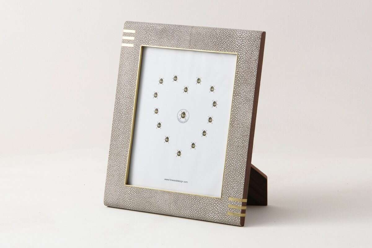 Christie Photo Frame in Barley Shagreen by Forwood Design 1