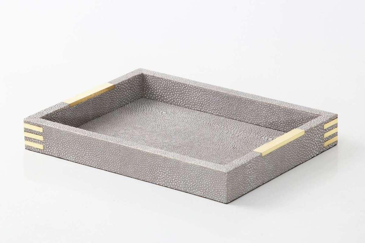 Christie Desk Tray in Barley Shagreen by Forwood Design 5