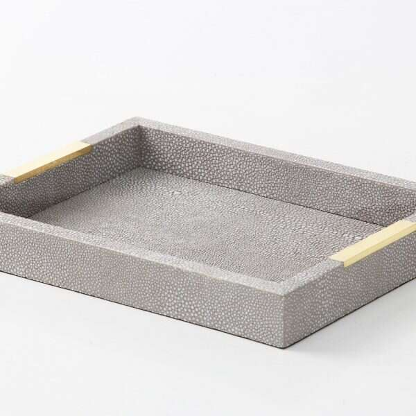 Christie Desk Tray in Barley Shagreen by Forwood Design 5
