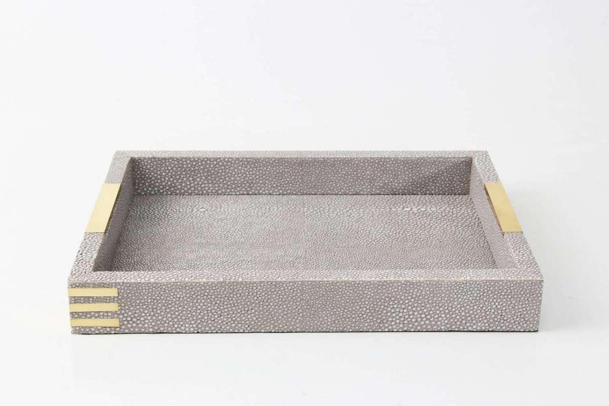 Christie Desk Tray in Barley Shagreen by Forwood Design 3