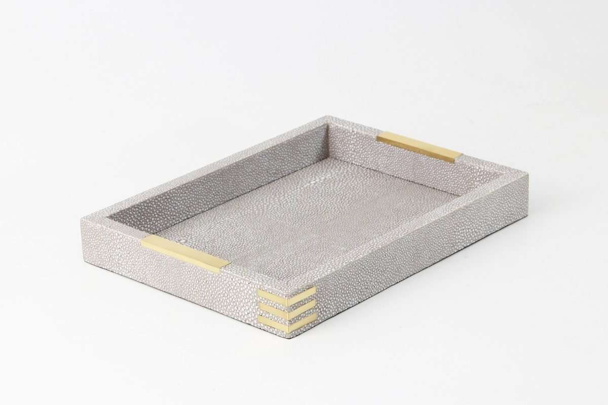 Christie Desk Tray in Barley Shagreen by Forwood Design 2