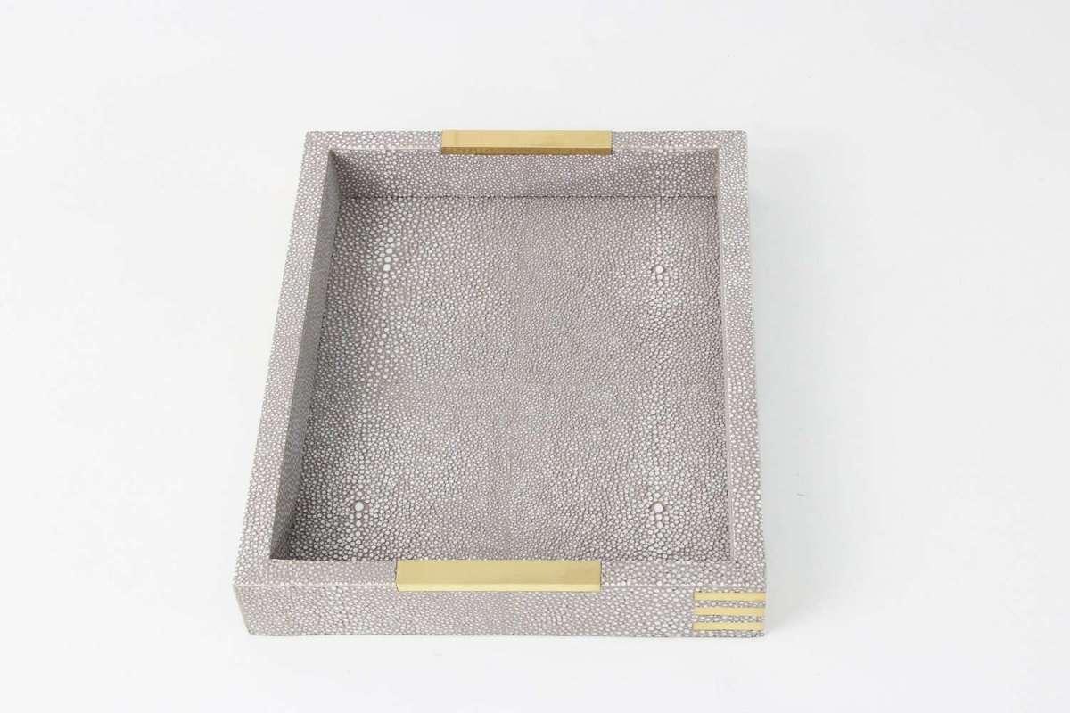Christie Desk Tray in Barley Shagreen by Forwood Design 1