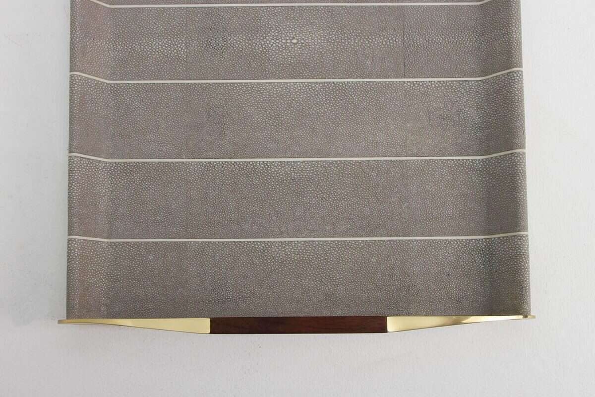 Jules Drinks Trays in Barley Shagreen by Forwood Design 1