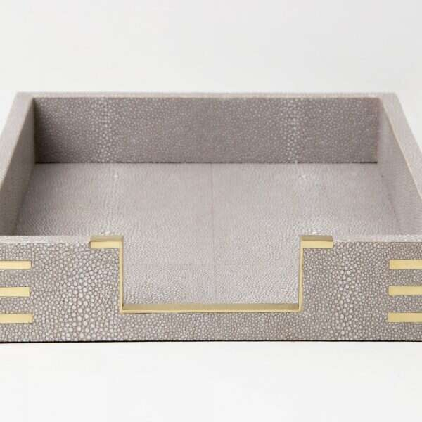 Christie In-Tray in Barley Shagreen by Forwood Design 5