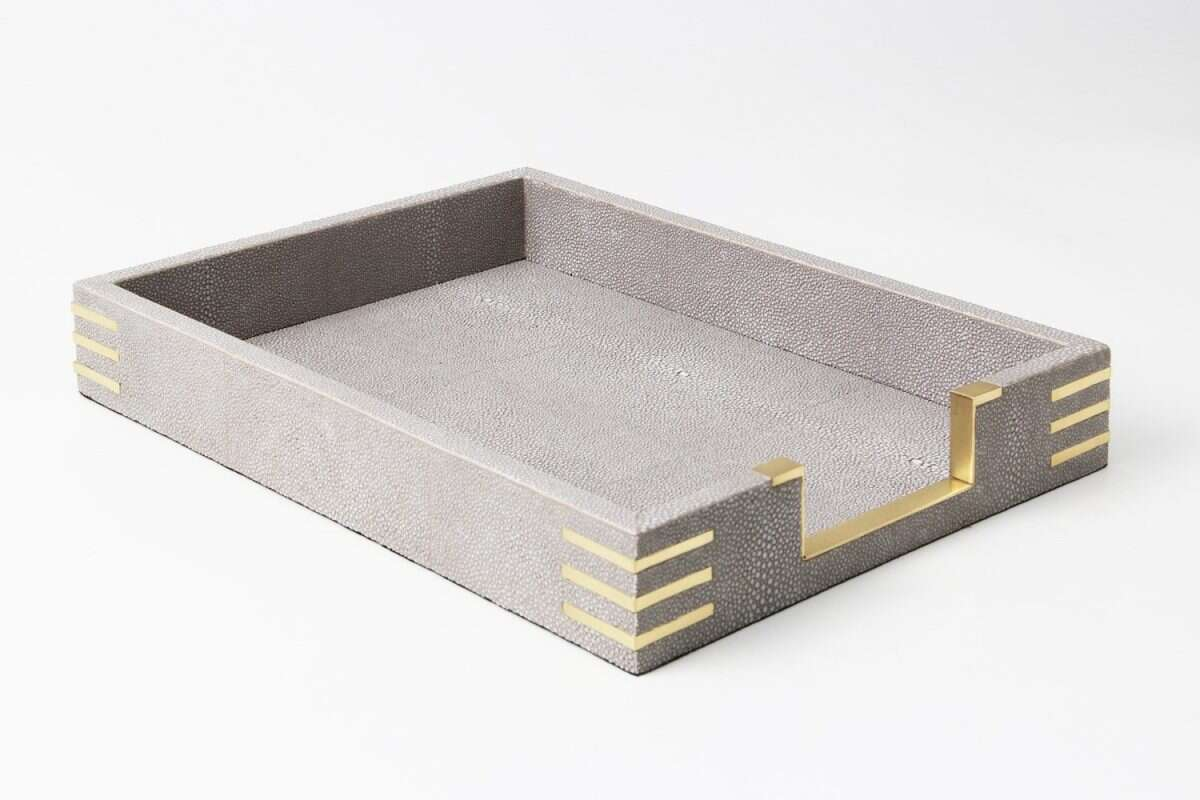 Christie In-Tray in Barley Shagreen by Forwood Design 4
