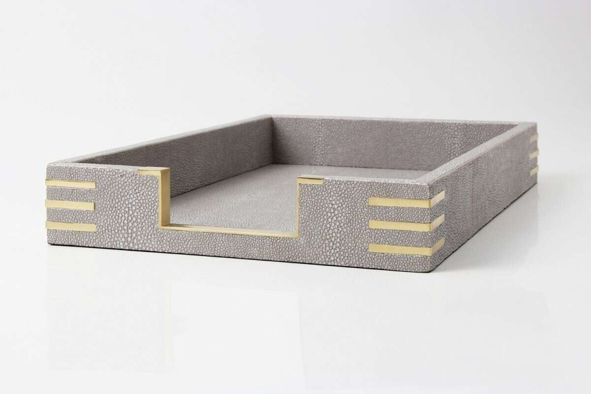Christie In-Tray in Barley Shagreen by Forwood Design 3