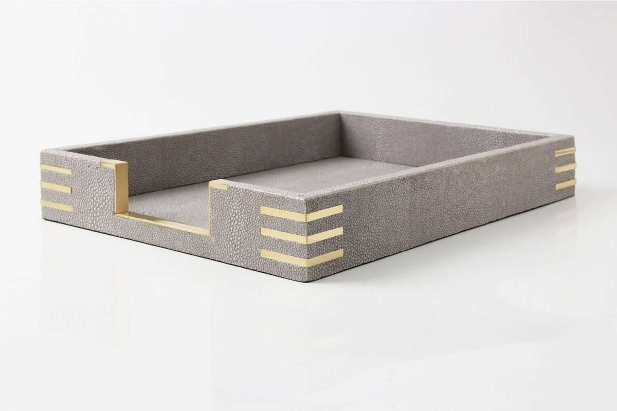 Christie In-Tray in Barley Shagreen by Forwood Design 2