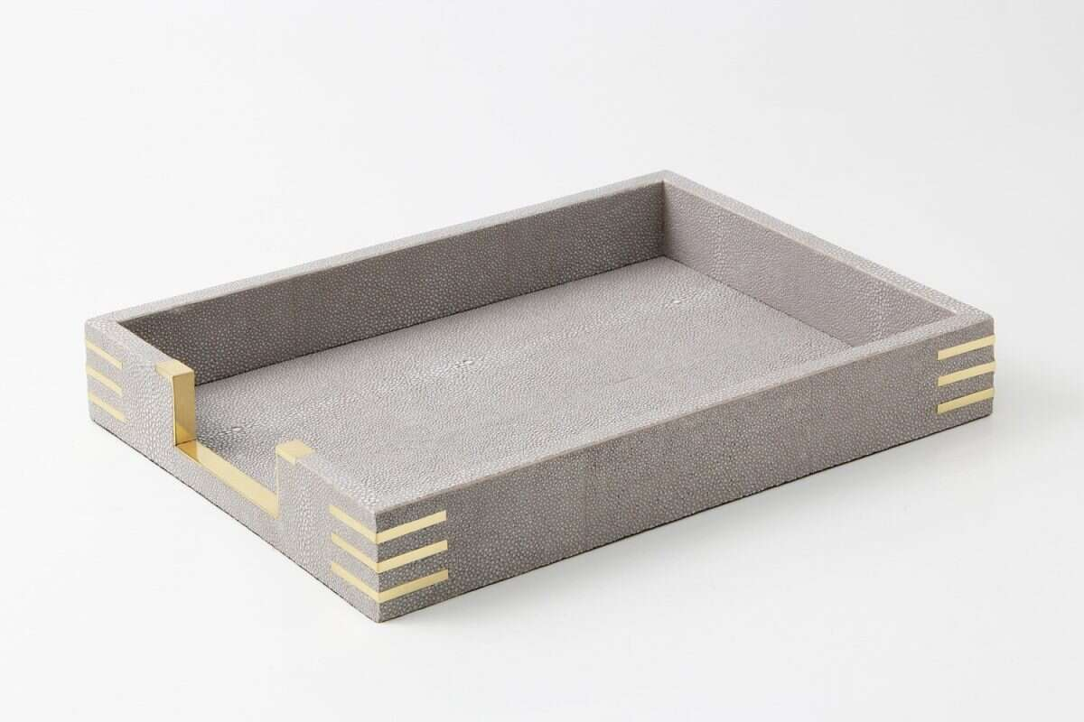 Christie In-Tray in Barley Shagreen by Forwood Design 1