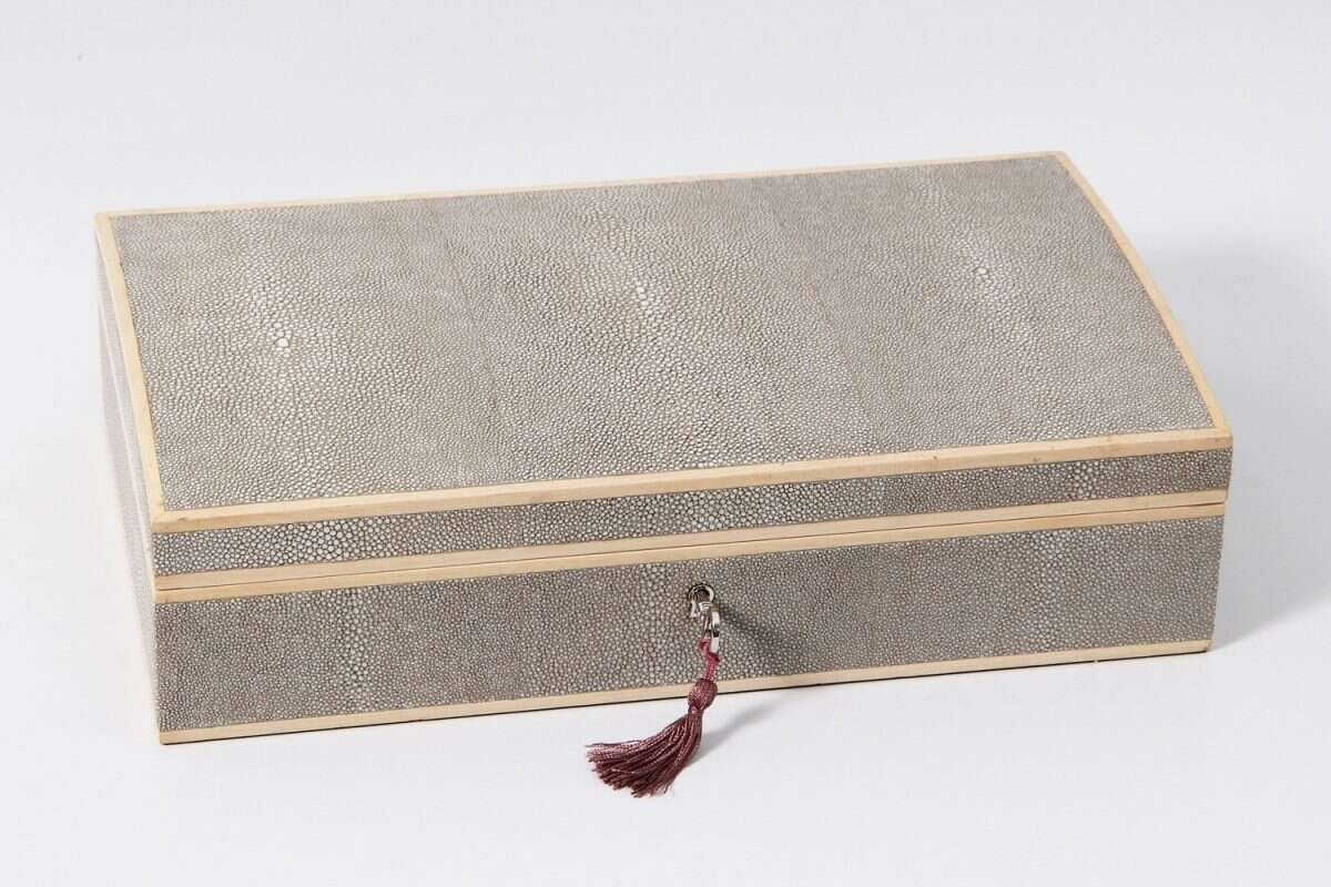 Avalon Jewelry Box in Barley Shagreen by Forwood Design 2