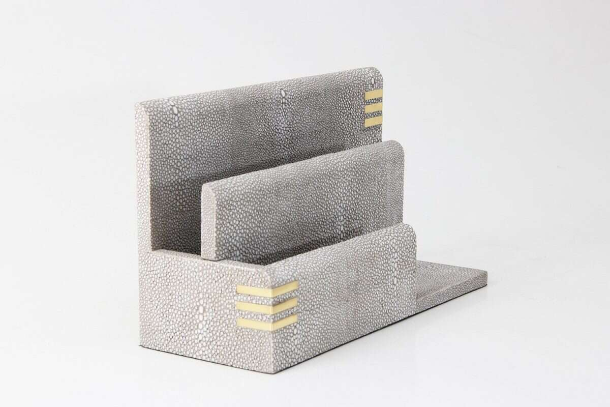 Christie Letter Rack in Barley Shagreen by Forwood Design 3