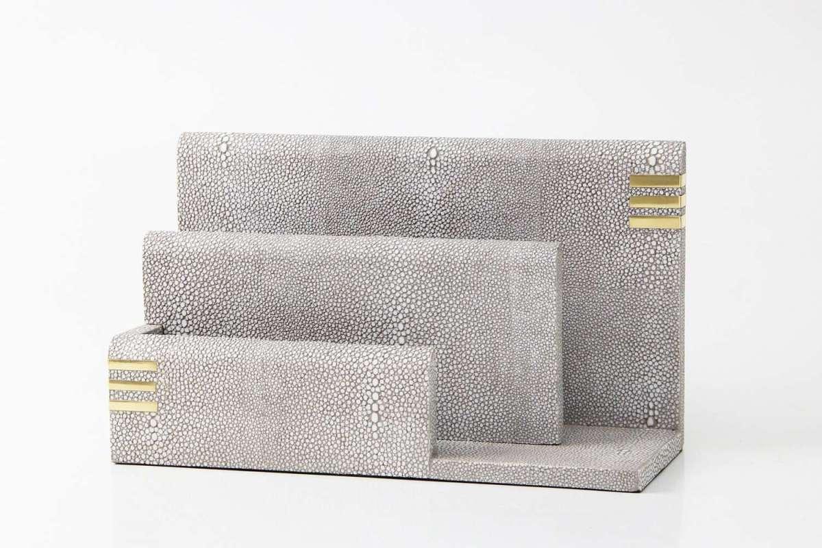 Christie Letter Rack in Barley Shagreen by Forwood Design 2