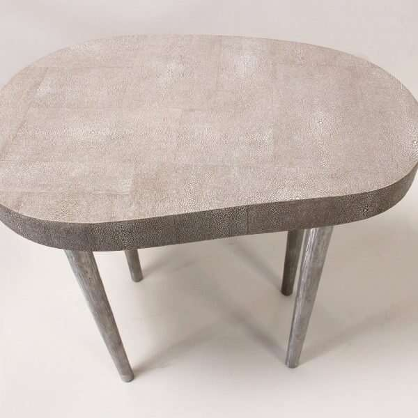 Mango side table in barley shagreen 5