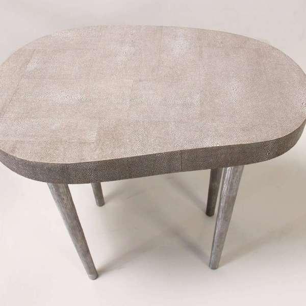 Mango side table in barley shagreen 5