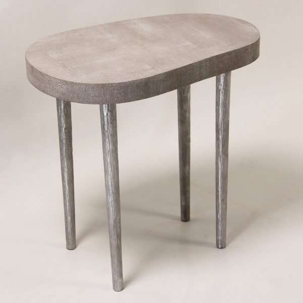 Mango side table in barley shagreen 2