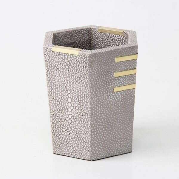 Christie Pen Pot in Barley Shagreen by Forwood Design 5