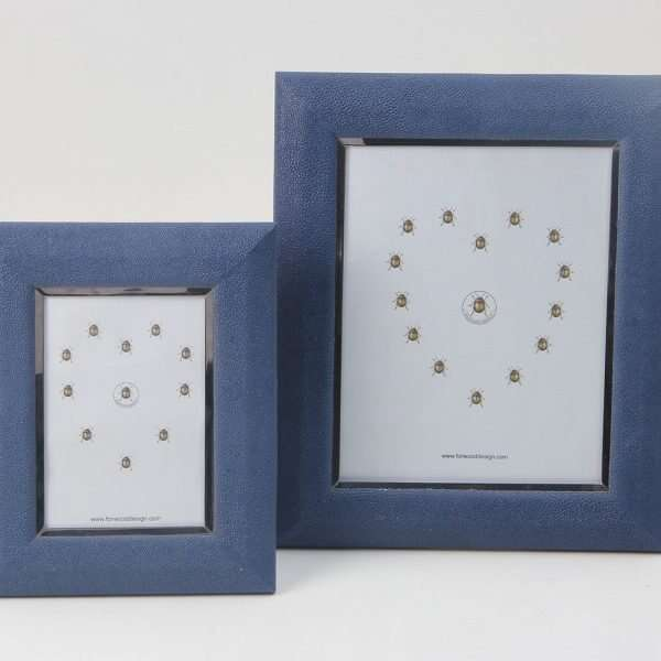 Bella Photo Frames in Nile Blue Shagreen by Forwood Design 5