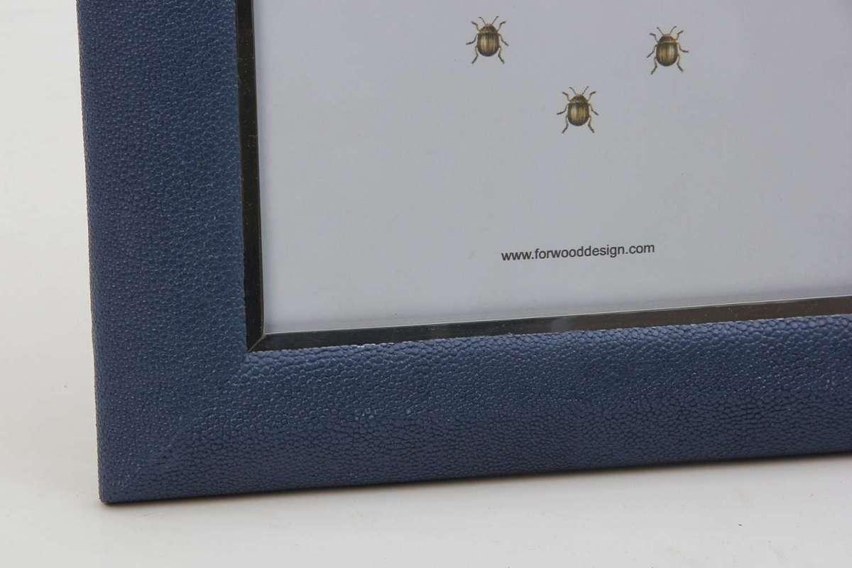 Bella Photo Frames in Nile Blue Shagreen by Forwood Design 4
