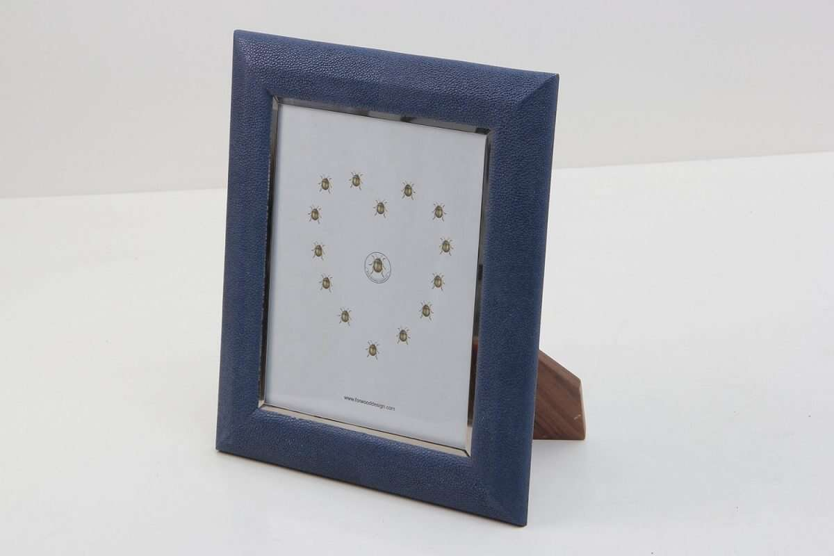 Bella Photo Frames in Nile Blue Shagreen by Forwood Design 3