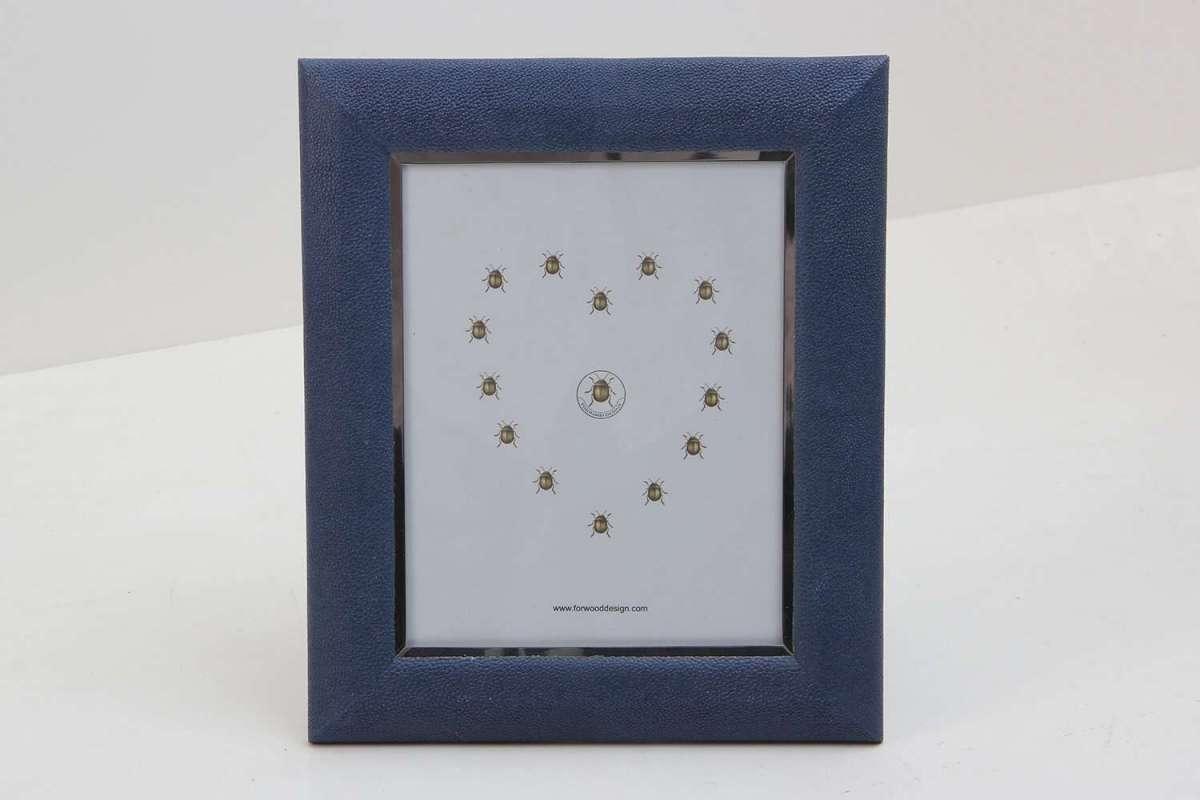 Bella Photo Frames in Nile Blue Shagreen by Forwood Design 2