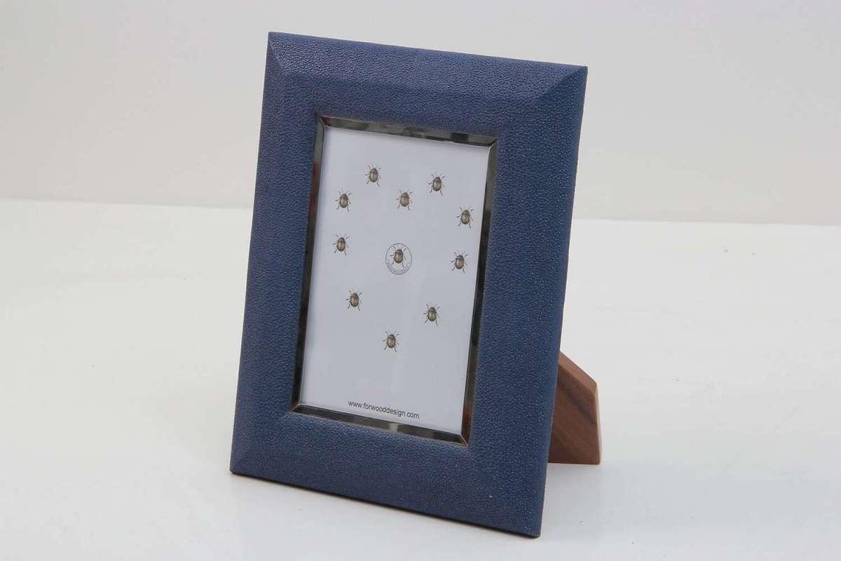 Bella Photo Frames in Nile Blue Shagreen by Forwood Design 1