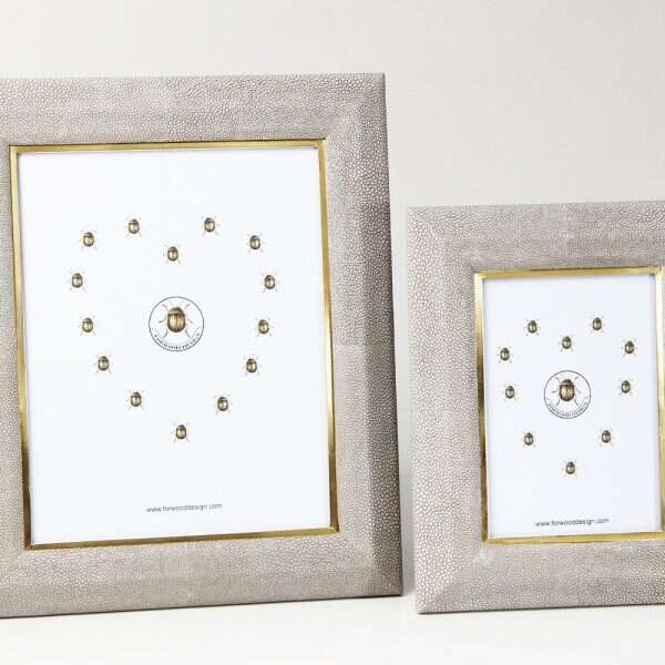 Bella Photo Frame in Barley Shagreen by Forwood Design 5