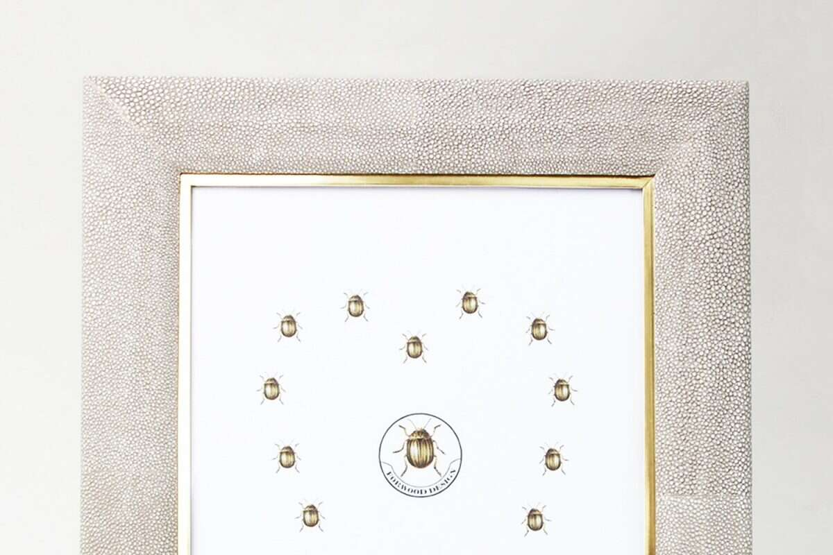 Bella Photo Frame in Barley Shagreen by Forwood Design 4