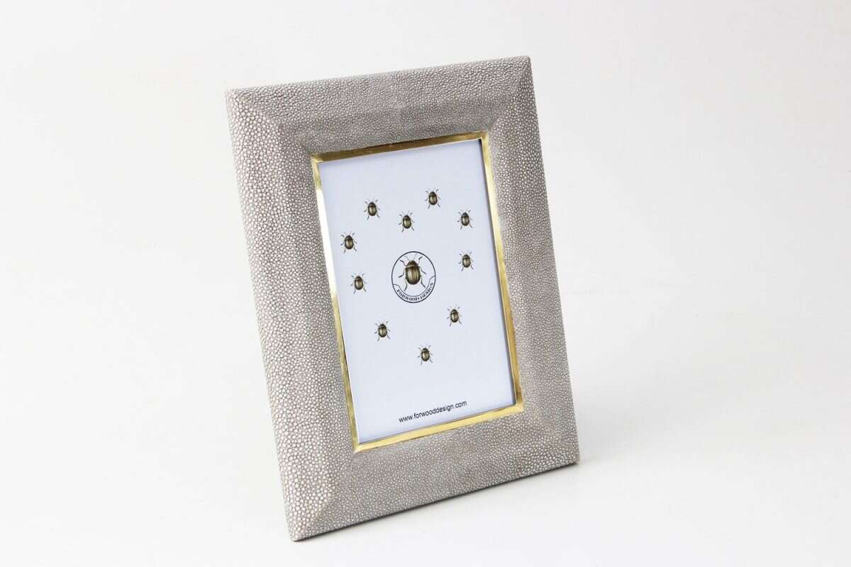 Bella Photo Frame in Barley Shagreen by Forwood Design 2