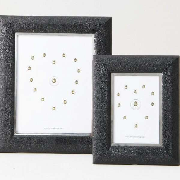 Bella Photo Frame in Caviar Black Shagreen by Forwood Design 5