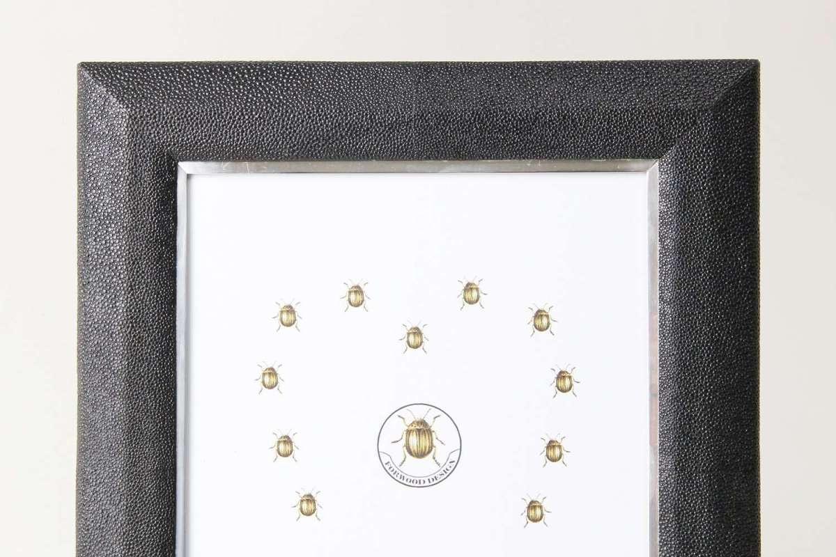 Bella Photo Frame in Caviar Black Shagreen by Forwood Design 4